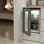 Mini frigorifico porta de vidro iluminação led