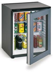 Mini bar porta de vidro hotel 60 litros