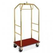 carro de bagagem hotel dourado