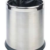 Papeleira em inox satinado com anel superior