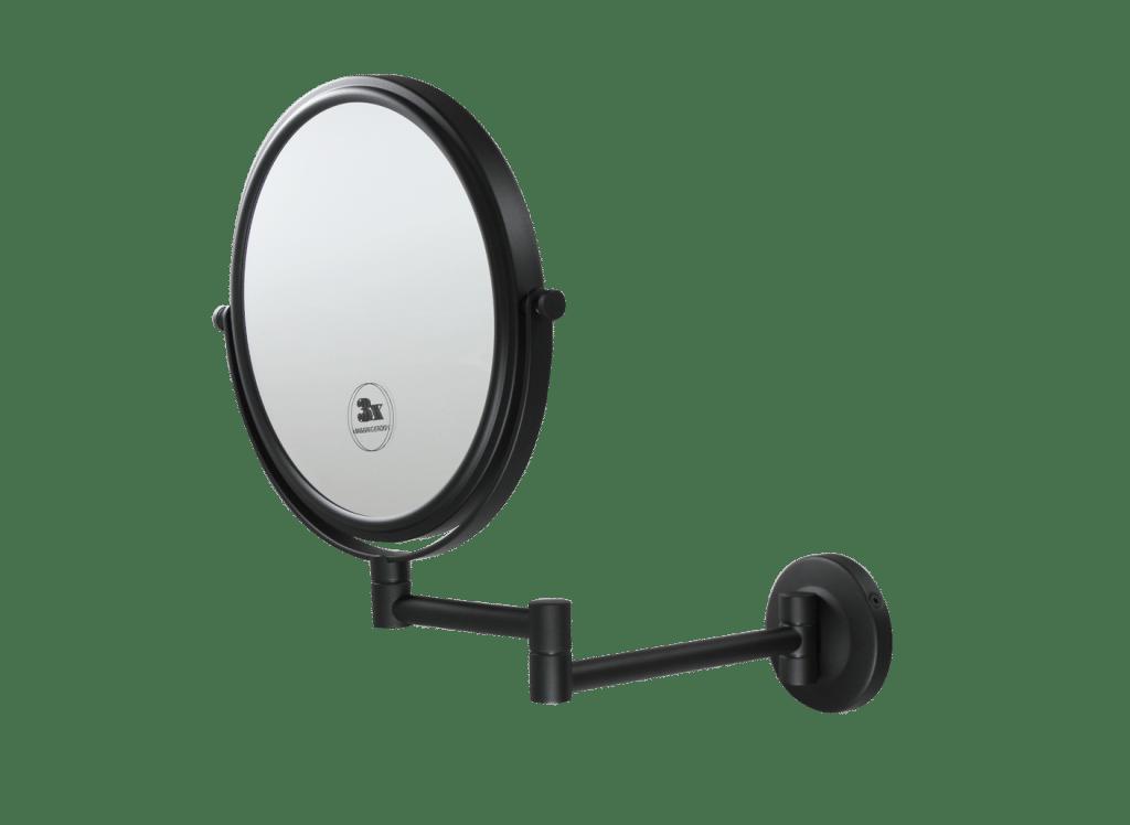 Espelho de aumento round preto